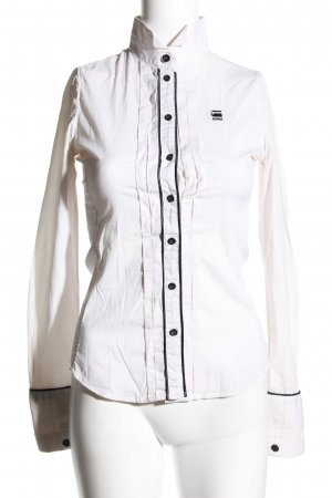 G-Star Raw Long Sleeve Shirt white-black business style