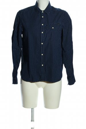 G-Star Raw Langarmhemd blau-weiß Punktemuster Casual-Look