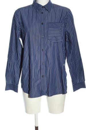 G-Star Raw Langarmhemd blau-weiß Streifenmuster Casual-Look