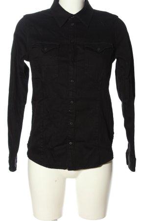 G-Star Raw Langarmhemd schwarz Casual-Look
