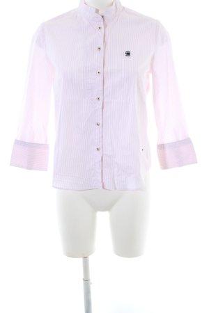 G-Star Raw Langarmhemd pink-weiß Streifenmuster Business-Look