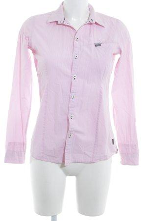 G-Star Raw Langarmhemd rosa-weiß Streifenmuster Business-Look