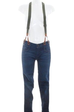 G-Star Raw Jeans met bovenstuk veelkleurig Logo applicatie (leer)