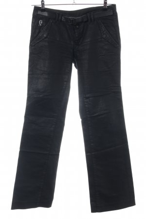 G-Star Raw Lederhose schwarz Casual-Look