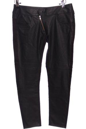 G-Star Raw Pantalón de cuero negro look casual