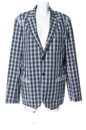 G-Star Raw Long-Blazer blau-weiß Allover-Druck Business-Look
