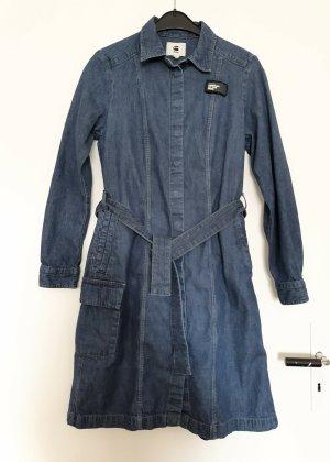 G-Star Raw Geklede jurk staalblauw-leigrijs Katoen