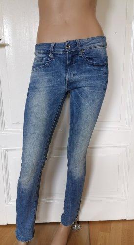 G-Star Raw Midge Jeans Hose Mid Straight blau Gr. 26/32 leicht gekürzt