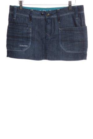 G-Star Raw Minirock blau Schriftzug gestickt Casual-Look
