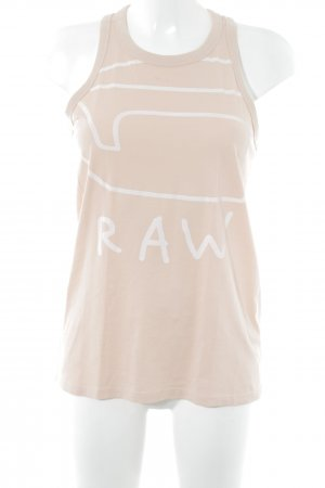 G-Star Raw Muscleshirt nude-wit atletische stijl