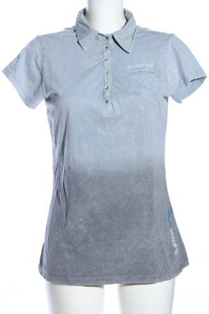 G-Star Raw Polo-Shirt hellgrau Farbverlauf Casual-Look