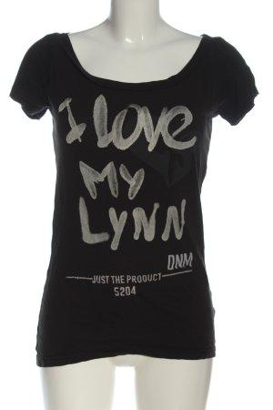 G-Star Raw Print-Shirt schwarz Schriftzug gedruckt Casual-Look