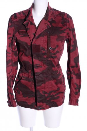 G-Star Raw Chaqueta ripstop rojo-marrón estampado de camuflaje look casual