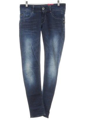 G-Star Raw Jeans cigarette bleu foncé Fixation de logo (en cuir)