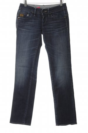 G-Star Raw Slim Jeans dunkelblau Destroy-Optik