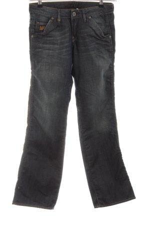 G-Star Raw Straight-Leg Jeans schwarz Schriftzug gedruckt Casual-Look