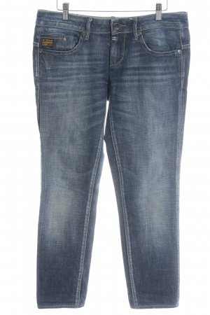 G-Star Raw Straight-Leg Jeans dunkelblau Logo-Applikation