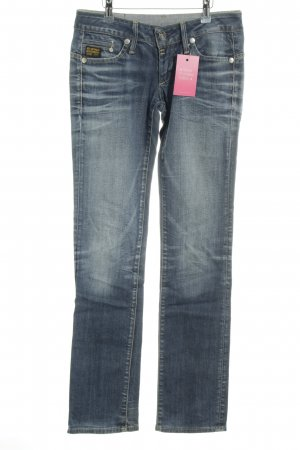 G-Star Raw Straight-Leg Jeans dunkelblau meliert Casual-Look