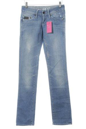 G-Star Raw Jeansy z prostymi nogawkami błękitny Efekt znoszenia