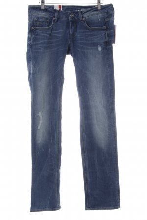 G-Star Raw Straight-Leg Jeans stahlblau Used-Optik