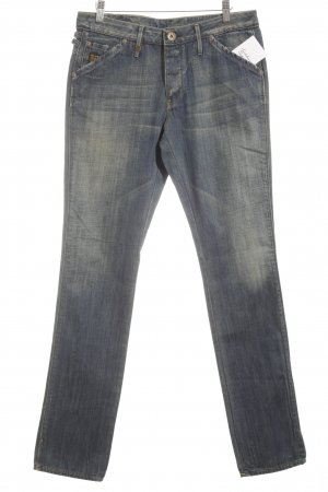 G-Star Raw Straight-Leg Jeans wollweiß-stahlblau meliert Jeans-Optik
