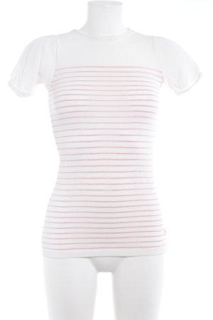 G-Star Raw Strickshirt wollweiß-ziegelrot Streifenmuster Casual-Look