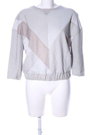 G-Star Raw Sweatshirt silberfarben-wollweiß grafisches Muster Casual-Look