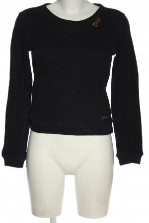 G-Star Raw Sweatshirt schwarz-blau meliert Casual-Look