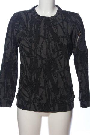 G-Star Raw Sweatshirt schwarz abstraktes Muster Casual-Look