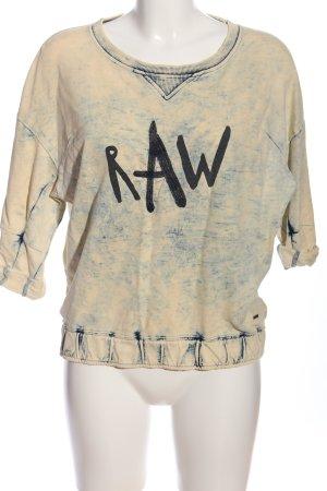 G-Star Raw Sweatshirt creme-blau meliert Casual-Look
