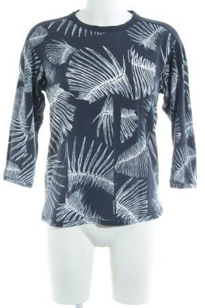G-Star Raw Sweatshirt dunkelblau-weiß Motivdruck