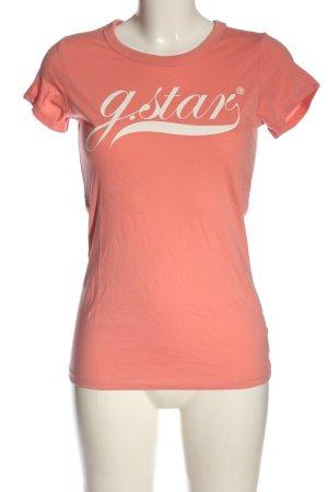 G-Star Raw T-Shirt hellorange-wollweiß Mustermix Casual-Look