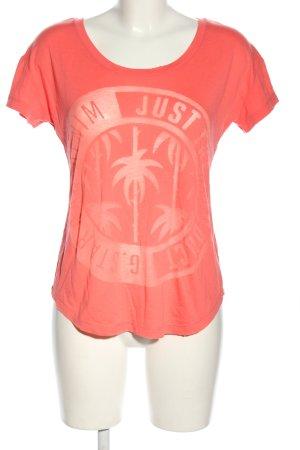 G-Star Raw T-Shirt pink-weiß Motivdruck Casual-Look