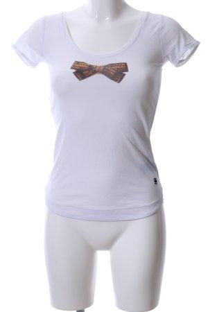 G-Star Raw T-Shirt weiß Motivdruck Casual-Look