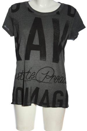 G-Star Raw T-Shirt hellgrau-schwarz meliert Casual-Look