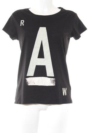 G-Star Raw T-Shirt schwarz-weiß Motivdruck Casual-Look