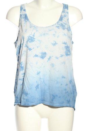 G-Star Raw Trägertop blau-weiß grafisches Muster Casual-Look