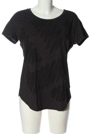 G-Star Raw Camisa de cuello barco gris claro estampado con diseño abstracto