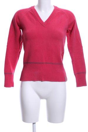 G-Star Raw V-Ausschnitt-Pullover rot Casual-Look