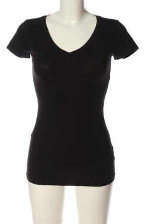 G-Star Raw V-hals shirt zwart casual uitstraling