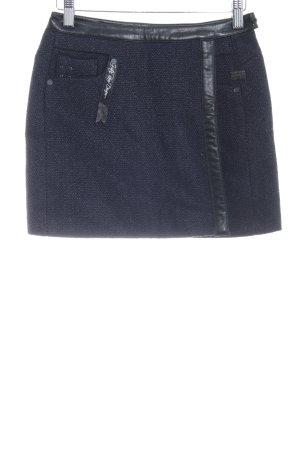 G-Star Raw Wollrock schwarz-dunkelblau Webmuster Casual-Look