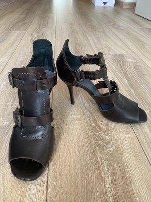 G-Star Raw Sandalo con tacco alto e lacci a T marrone scuro