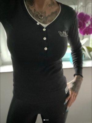 G-Star V-Neck Shirt black cotton