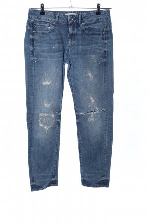 G-Star Skinny Jeans blau Street-Fashion-Look