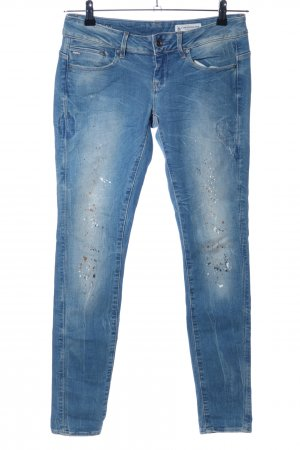 G-Star Skinny Jeans blau abstraktes Muster Casual-Look