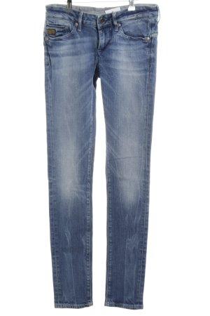 G-Star Skinny Jeans blau Farbverlauf Casual-Look