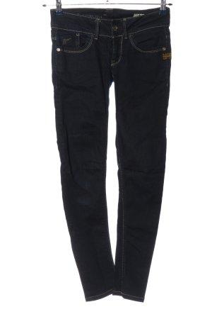 G-Star Skinny Jeans blau-blassgelb Motivdruck Casual-Look