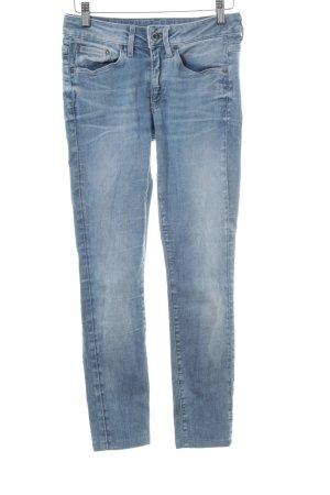 G-Star Skinny Jeans blassblau Farbverlauf Casual-Look