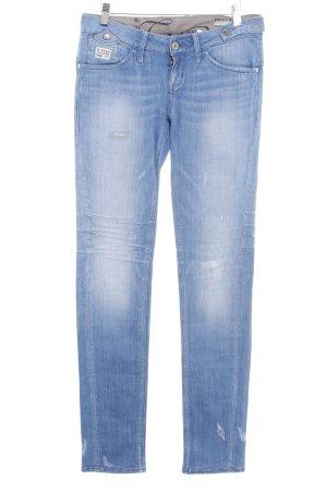 G-Star Skinny Jeans blau Logo-Applikation