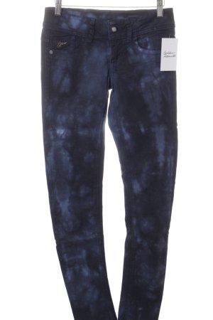 G-Star Skinny Jeans dunkelblau-blau Batikmuster Street-Fashion-Look